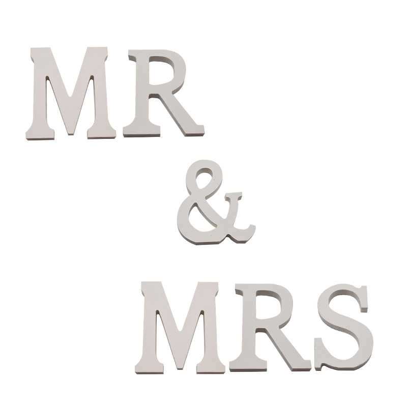 Wedding Decoration Wooden Letters English Alphabet Word Personalised Name Design Diy Art Craft Birthday Party Home Decoration