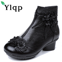 Ylqp Original Folk Style Women S Boots Female Big Plus Size Genuine Leather Ankle Boots Warm