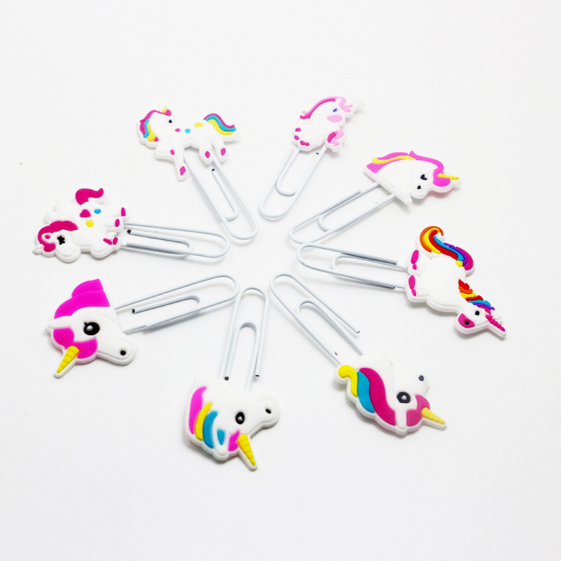 Unicorn Design Paper Clip Bookmark Promotional Gift Stationery School Office Supply Escolar Papelaria