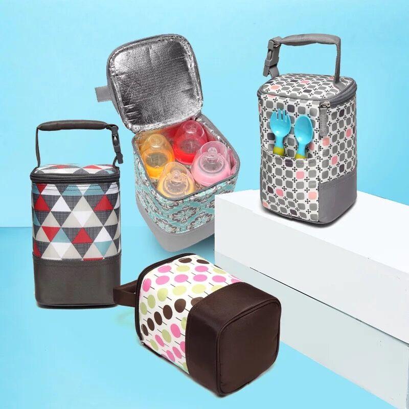 цена на COLORLAND Fashion Baby Handbag Bottle Bag Thermo Bottles Mummy Handbag Baby Bag Insulation Bags Breast Milk Thermal Food Warmer