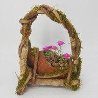 Caioffer Wooden Pot De Fleur For Succulents Plants Large Ceramic Flower Pots Bonsai Home Garden Office