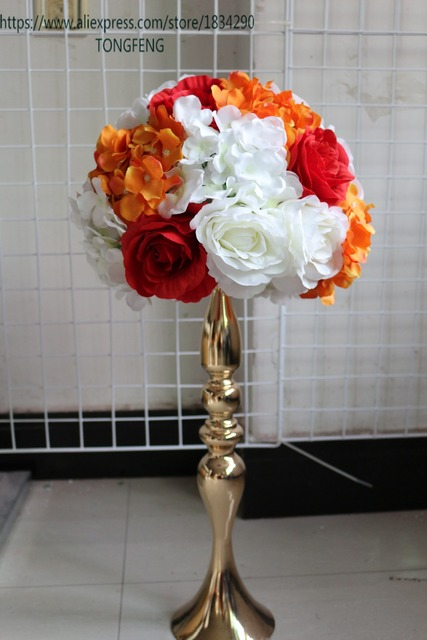 Incroyable Wedding Decoration Road Lead Artificial Flowers Wedding Table Flowers Table  Centerpiece Flower Ball 10pcs/lot