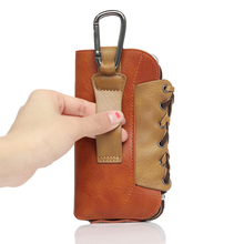New Multi-function Mountain Climbing Waist Bag Case for iPhone6/6s Plus PU Leather Pouch for Samsung Galaxy Note 5/4 Cases
