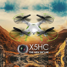 Big scale RC Drone With HD Camera X5HC 2.4G 4CH 6-Axis 360 Flips RC Helicopter Quadcopter Drone Camera RTF VS U842 U919A