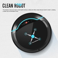 Black/White USB Automatic Vacuum Cleaner Robot for Home Office Dry and Wet Mopping Smart Sweeper Smart Floor Cleaning Robot