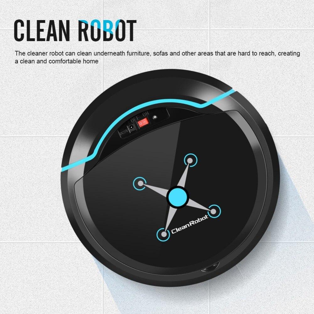 Negro/Blanco USB de vacío automática Robot aspirador de la Oficina para el hogar en seco y en húmedo limpieza inteligente barrendero inteligente de limpieza robot