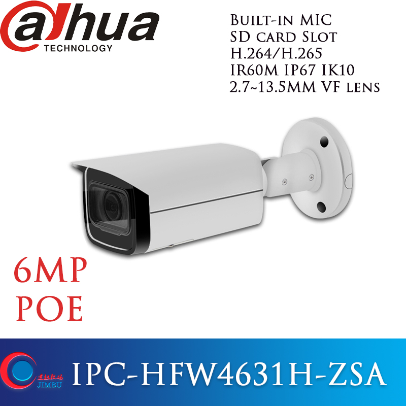 Dahua POE 6MP with Build in Microphone SD Card slot Security came IPC HFW4631H ZSA WDR
