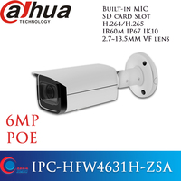 IPC HFW4631H ZSA Dahua POE 6MP 2.7 13.5MM with Build in Microphone SD Card slot Security came WDR 3DNR MIC H.265 Bullet IPCamera