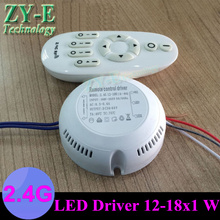 hot ! 2 Set 12-18X1W led driver constant current double color driver+2.4G RF Remote controll new design adjust led Transformer