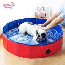 Infant Shining Pet Dog Bath Foldable Bathtub Large Summer Swimming Pool Bucket Tub Accessories for Cat