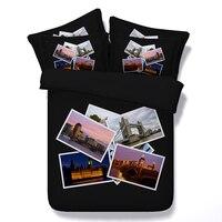 London печати постельные принадлежности дизайнер одеяла наборы одеяло CAL king size Queen Двуспальная Кровать в мешке листов пододеяльник покрывало л