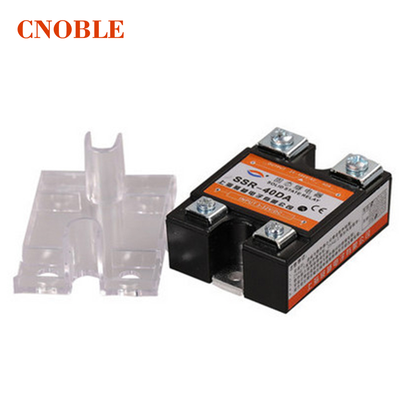 цена на New Accessories 24V-380V 40A SSR-40 DA Solid State Relay Module for PID Temperature Controller 3-32V DC To AC Relays