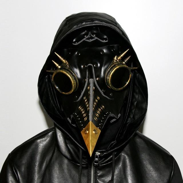 d94bafef7 Steam Punk Plague Doctor Mask Beak Horrifying Crow Mouth Mask ...