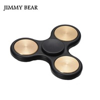 JIMMY BEAR 1 Pcs EDC Brass Tri Spinner Fidget Toy Plastic Hand Spinner For Autism And