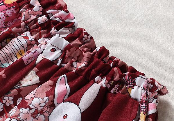 Kvinnor Japansk stil Harajuku Shorts Onegai Usagi Bönkanin Print - Damkläder - Foto 3