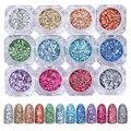 1 Botella Brillante Uñas Glitter Powder 3g Colorful Nail Art Holográfica Láser de Pigmento En Polvo #8334979