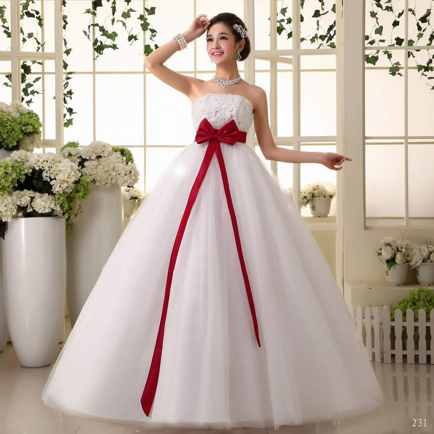 Red Gown For Wedding: 2017 New Stock Plus Size Women Pregnant Bridal Gown