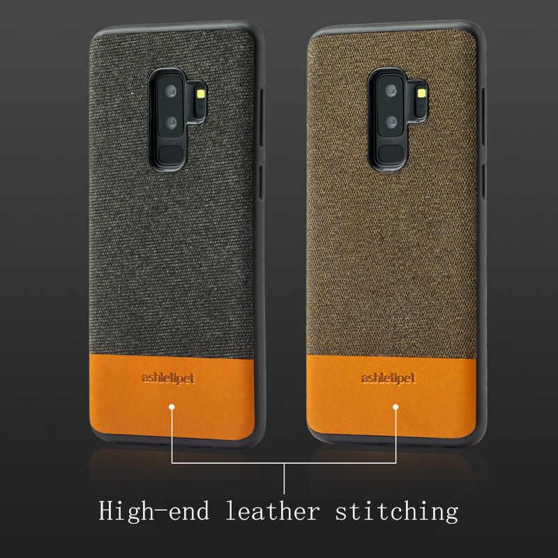 Funda magnética Original para hombres de negocios para samsung S9 S10 lite Note 9 note 8 funda de tela a prueba de golpes para samsung A50 a70 A7 A8 2018