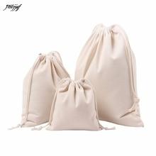 GUBINTU Fashion Brand Women Bag Solid White Drawstring Bags Beam Port Shopping Bag Twill canvas Travel Bag Gift Bag Female Bags