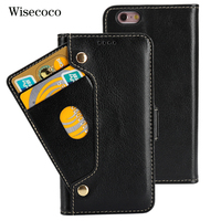 Genuine Leather Phone Case For Iphone 6 6s Case Luxury Flip Wallet Cradit Card Holder new book Cover Coque For iphone6s iphone6