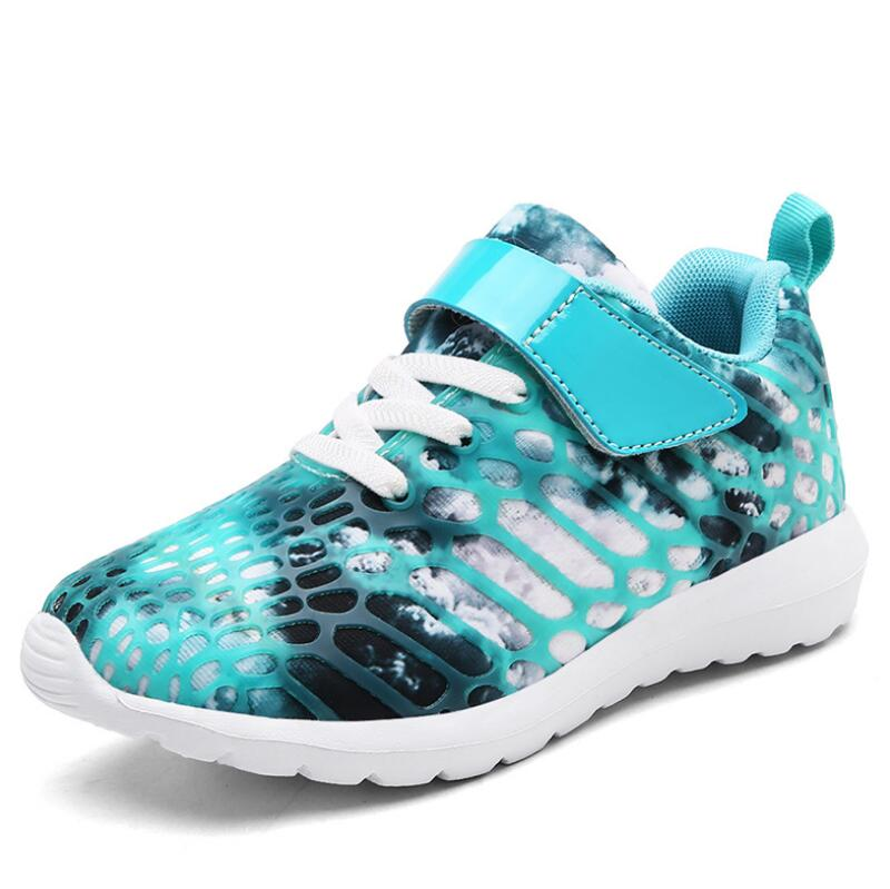 HOBIBEAR Spring Autumn Kids Shoes Boys Sport Shoes Girls Casual Shoe Children Sneakers Breathable Mesh Running School Footwear in Sneakers from Mother Kids