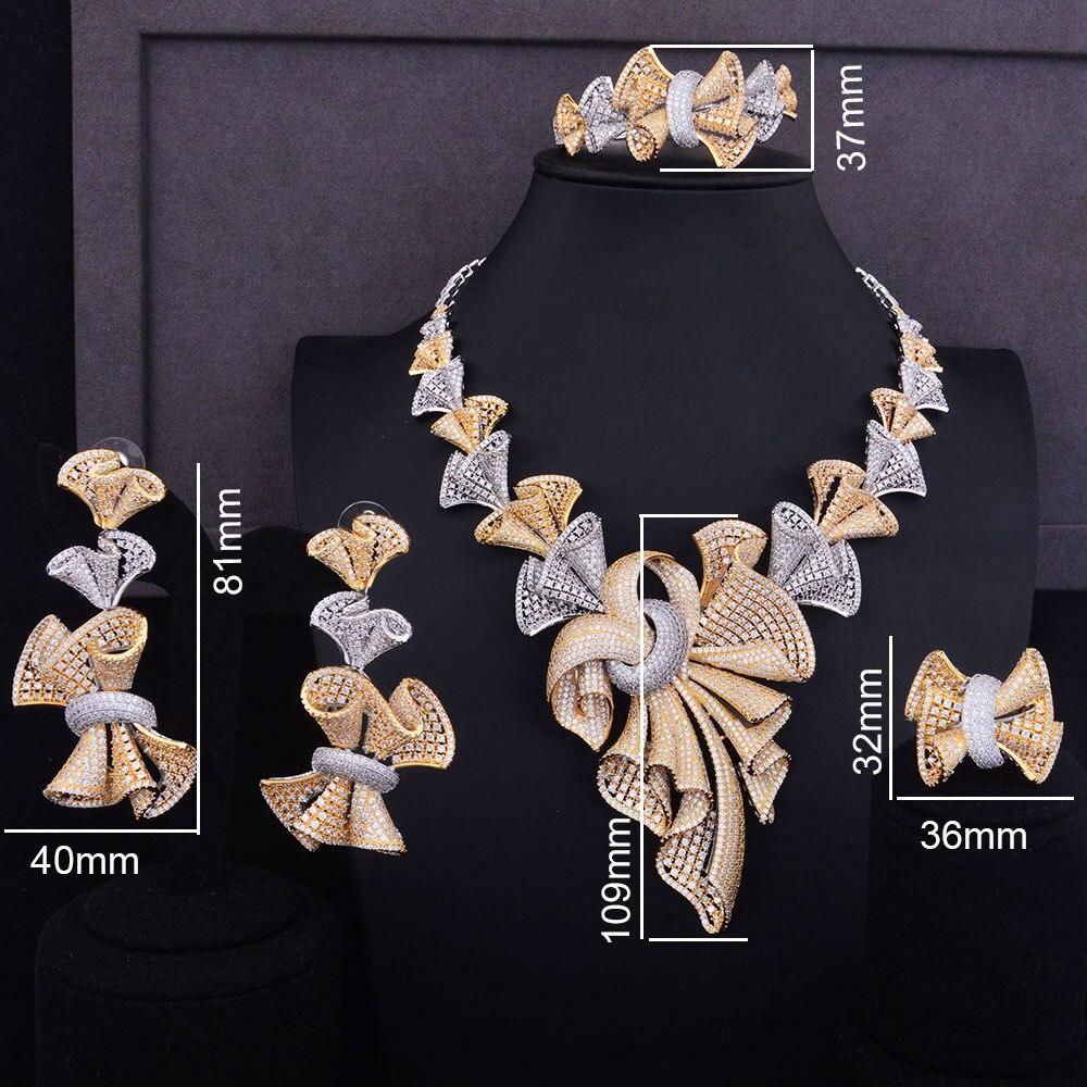 GODKI Luxus Super Große Bowknots Frauen Nigerianischen Hochzeit Braut Zirkonia Halskette Dubai 4 STÜCKE Schmuck Set Schmuck Sucht-in Schmucksets aus Schmuck und Accessoires bei  Gruppe 2