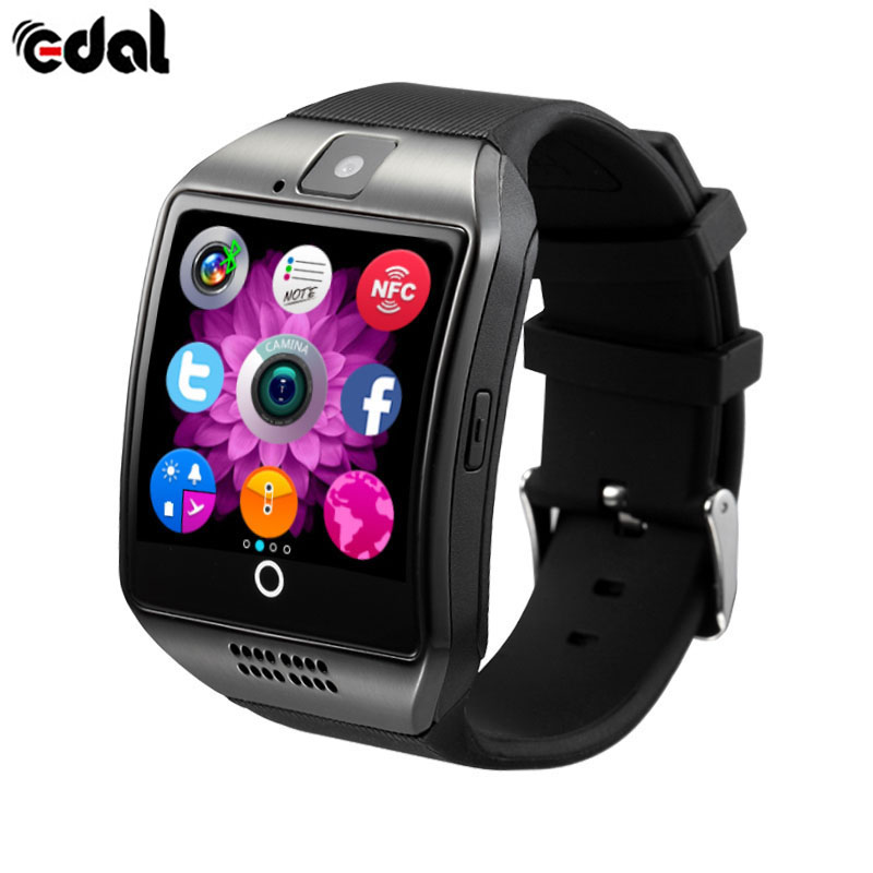 EDAL Universa Bluetooth Smart Watch Q18 With Camera Facebook Whatsapp Twitter SMS Smartwatch Support SIM TF Card For Android