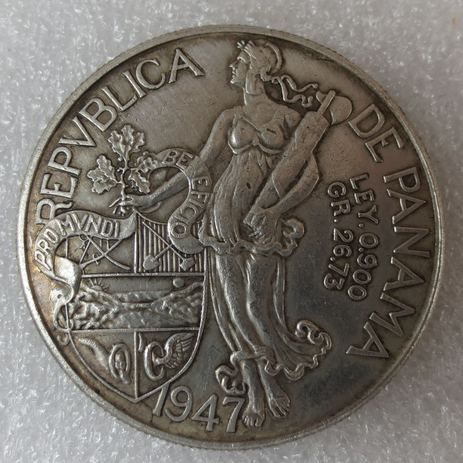 High quality 1947 Panama Balboa Silver Foreign Copy Coins
