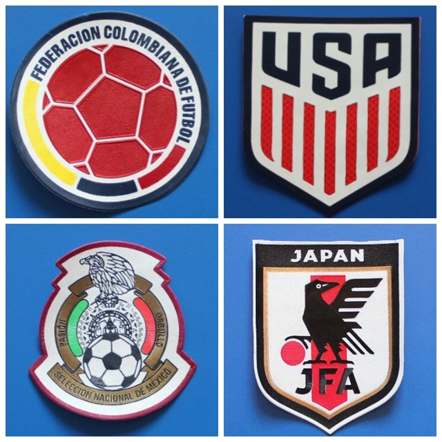 Usa Japan Portugal Mexico France Juventus England Spain Patches