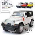 1:32 Jeep Wrangler Rubicon Cars Metal Alloy Diecast Toy Car Model Miniature Scale Model Sound and Light Emulation Electric Car