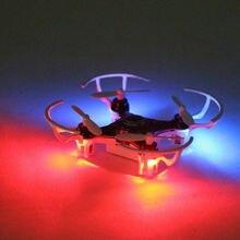 O Envio gratuito de venda quente 2.4G mini RC quadcopter drone Brinquedo 4CH 6-axis Gyro Helicóptero de Controle Remoto com luz led para crianças
