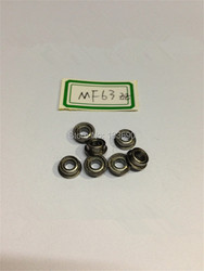 10 unids/lote 3mm MF63ZZ MF63Z 3mm * 6mm * 2,5mm MF63 miniatura brida Ranura Profunda bola radial rodamientos de bolas 3x6x2,5mm