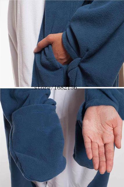 Kigurumi Adult Pyjamas Cosplay Costume Blue Shark Onesie Lemur Sleepwear Homewear Unisex Pajamas Party Clothing For Women Man