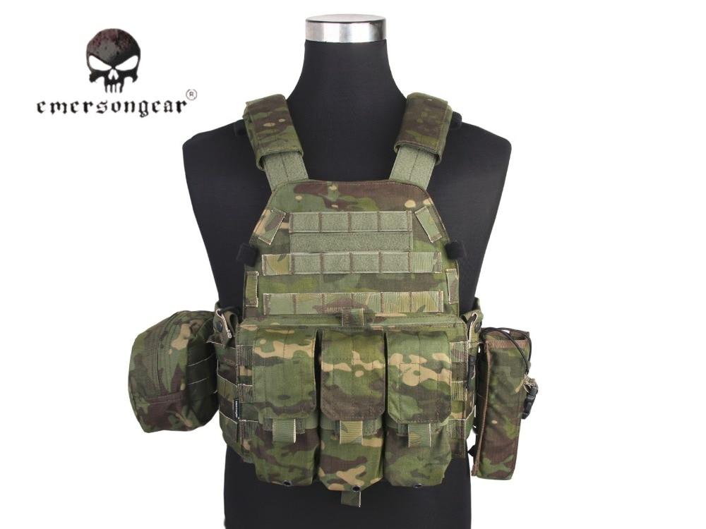 Emersongear Lbt6094a Stijl Tactical Vest Met 3 Zakjes Jacht Airsoft Militaire Combat Gear Multicam Tropic Em7440mctp Minder Duur