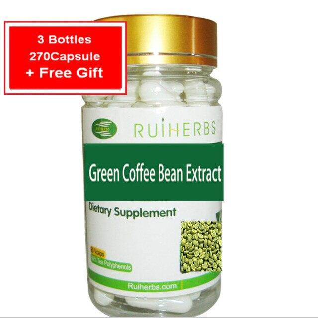 3 Бутылки Зеленого Кофе в Зернах Экстракт 500 мг x270Capsule Природный 65% Хлорогеновая Кислоты Для Снижения Веса!