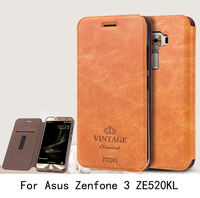 For Asus Zenfone 3 ZE520KL Case Cover Luxury Flip PU Leather Wallet Stand Phone Case Cover