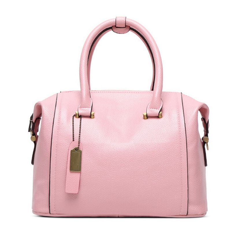 Genuine Leather Women S Boston Bag 2018 New European Handbag Solid Color Cowhide Messenger Sac A Main C40 391 In Top Handle Bags From