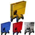 4 Colors Vinyl Protector Cover Skin Stickers Decal for Sony Playstation Play Station 4 PS4 Consoles and Two Controller Skins