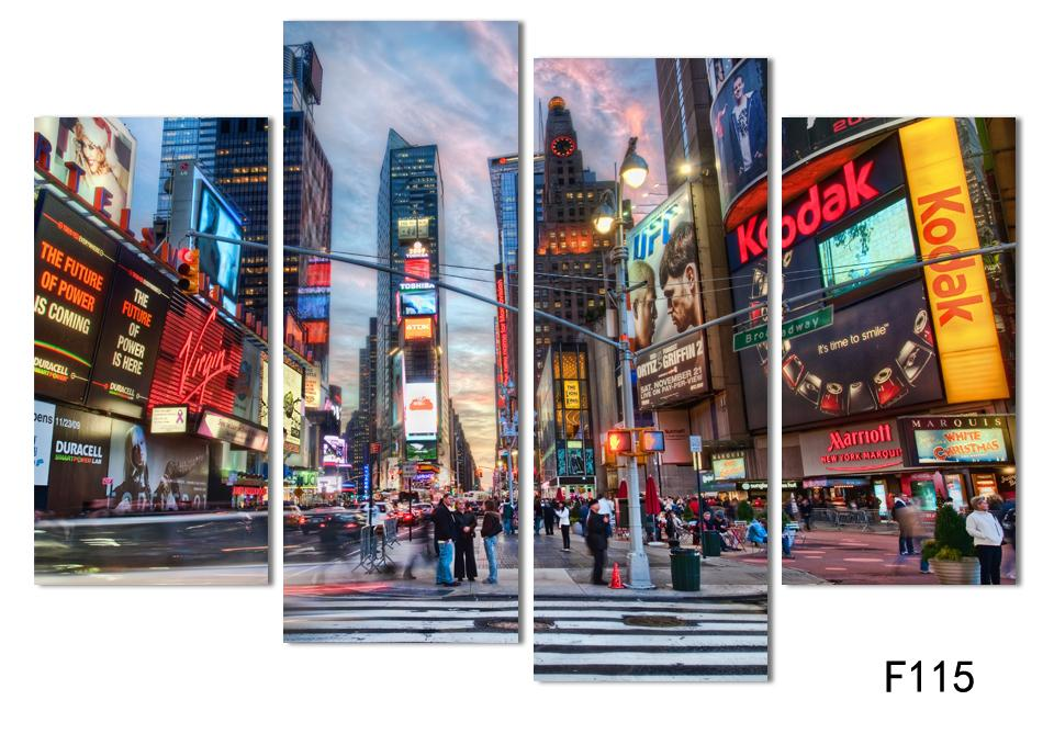 Fashion abstract new york buildings oil painting color city pictures landscape canvas set modern wall art decoration in painting calligraphy from home