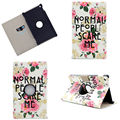 360 Degree Rotation Fashion Print Case For Amazon New Kindle Fire HD8 HD 8 2016 Cover Tablet Stand PC+PU Leather Shell
