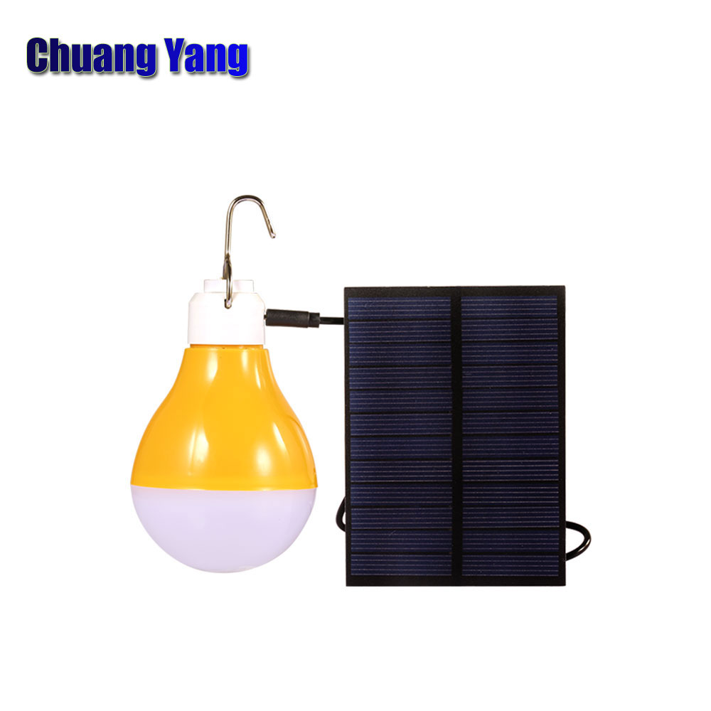 7W LED Rechargeable Solar Light bulb lamp Camping Solar Powered Usb Panel Charger 2018 New Arrival