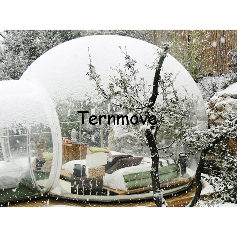Snow luxury inflatable tent,Clear Dome Tent,Commercial Advertising Inflatable bubble tree Tent for Event Trade Show Tent 3m diameter blow up snow ball inflatable snow globe inflatable human size snow globe balloons for chirstmas decoration