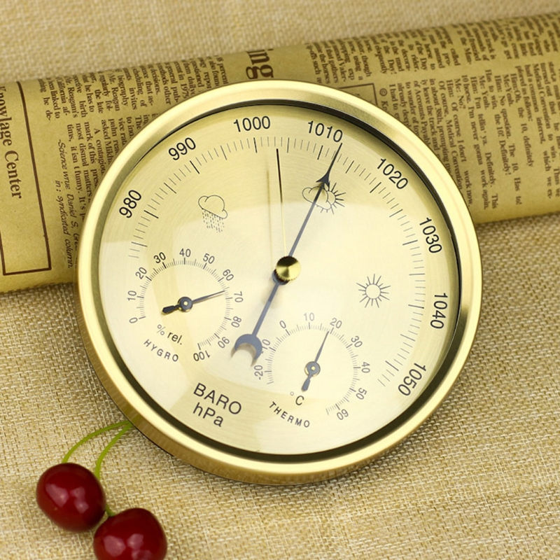 Image 3 - 5 Inch Barometer Thermometer Hygrometer Wall mounted Household  Weather Station Thermometer HygrometerPressure Gauges