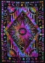 Хиппи психоделические Celestial Луна и солнце гобелен настенный большой индийский Богемный Хиппи гобелены ткань домашнего декора