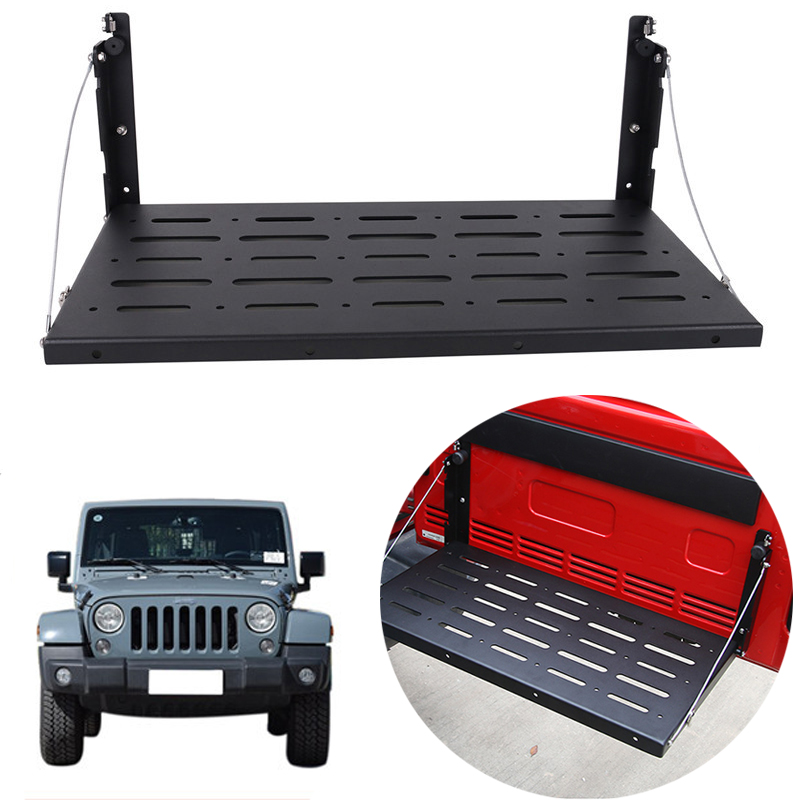 Metal Rear Door Utility Cargo Shelf Storage Rack Carrier Shelf For 2007-2017 Jeep Wrangler JK // ...
