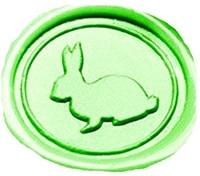Vintage Cute Rabbit Custom Picture Logo Wedding Invitation Wax Seal Sealing Stamp Sticks Spoon Gift Box