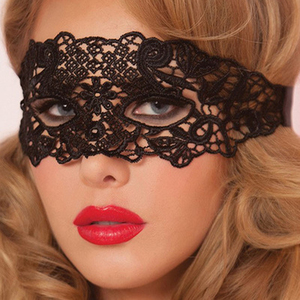 Image 4 - 1/2pcs Sexy Babydoll Lingerie Cosplay Party Hot Erotic Sexy Costumes for Women Female Hollow Out Black Lace Mask Cosplay Masks