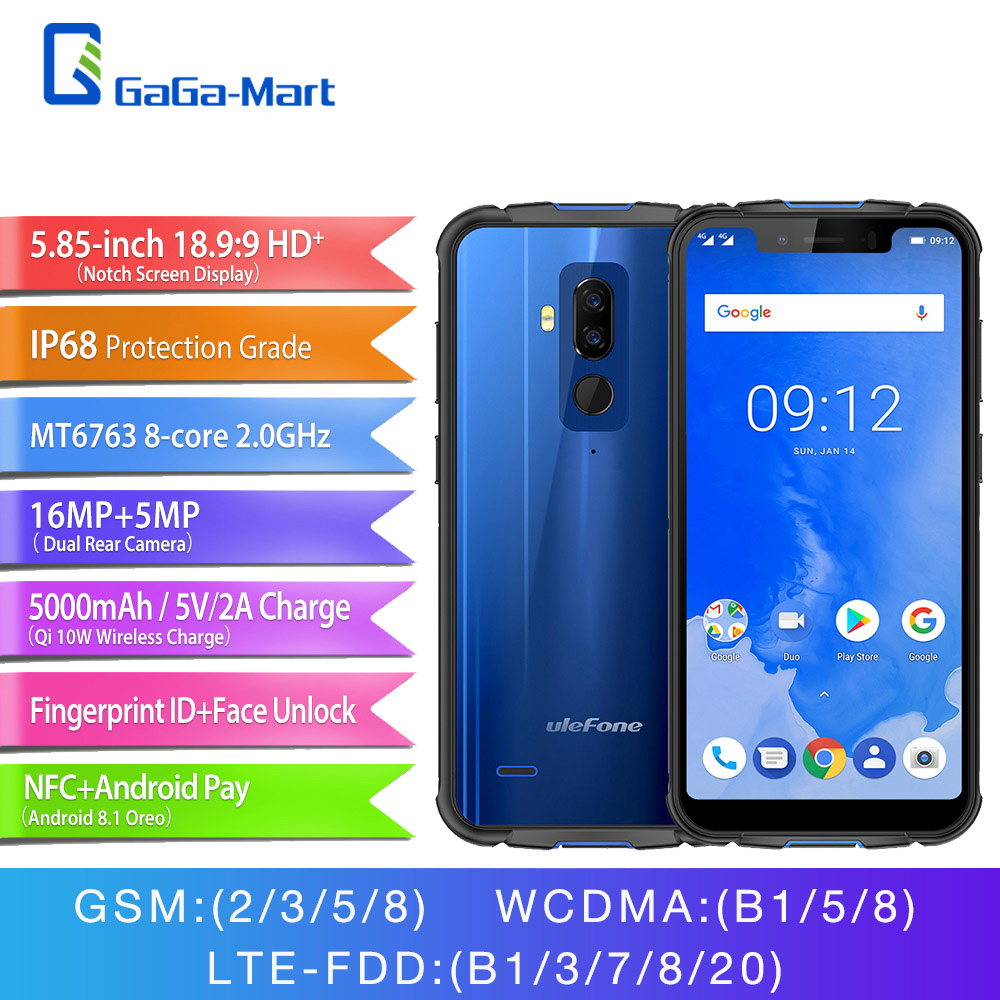 Ulefone Armor 5 IP68 Waterproof Mobile Phone Android 8 1 5 85 HD MT6763 Octa Core