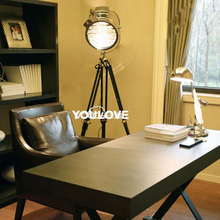 Nordic Tripod Floor Lamps Vintage Stage Camera Photography Lights Search Lights Home Indoor Floor Lights Fixture AC 110V 220V