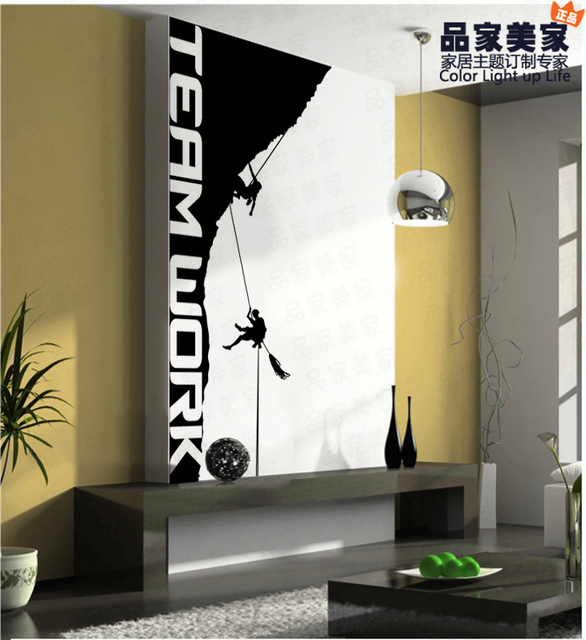 free shipping wholesale and retail sports rock climbing wall stickers wall decals wall covering wall paper